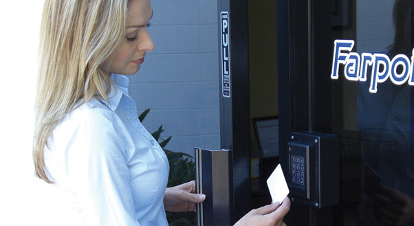 Access control at gym entrance