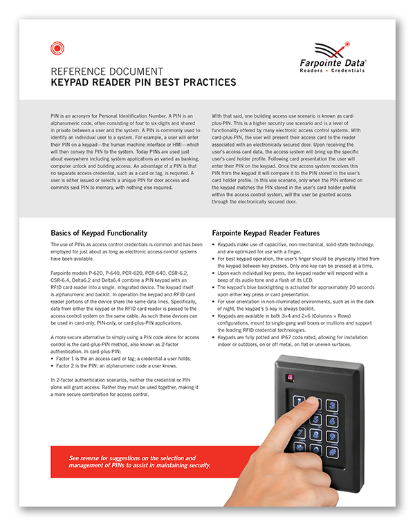 PIN Best Practices Reference Document
